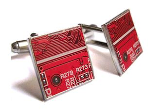Recycled circuit board cufflinks - handmade in the UK, each pair is unique. £19.99