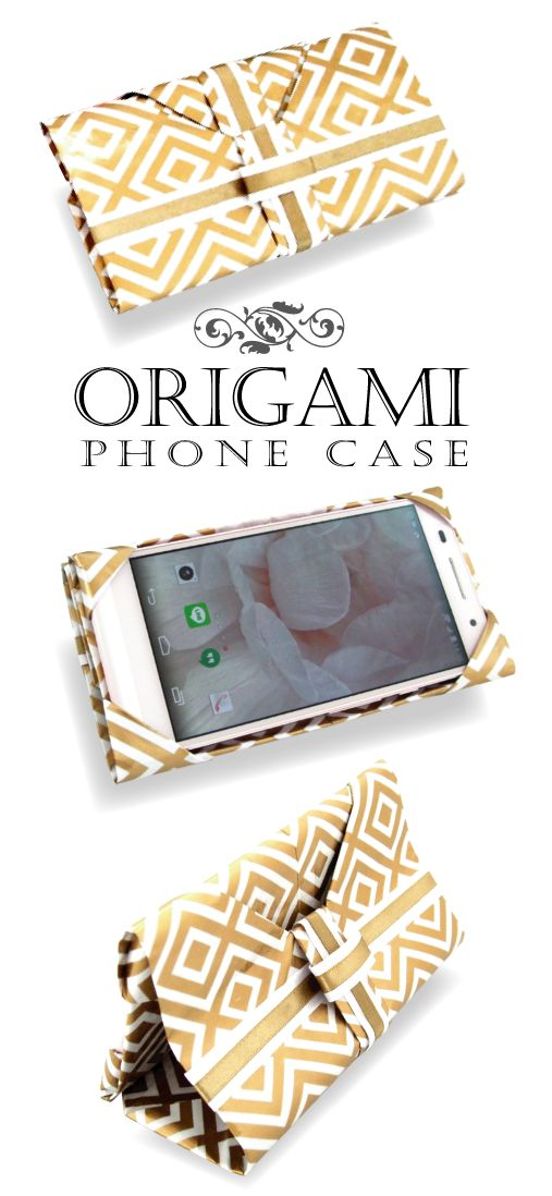 Phone case DIY No-sewing needed, just fold a sheet of paper スマホ&タブレットケースの折り方