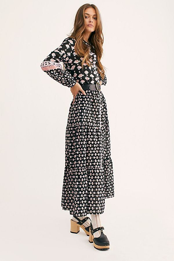 f02717a08c58 Papillon Maxi Dress - Black Floral Long Sleeve Maxi Dress - Black Floral  Maxi Dress - Black Long Sleeve Maxi Dress - Boho Maxi Dresses - Long Sleeve  Boho ...