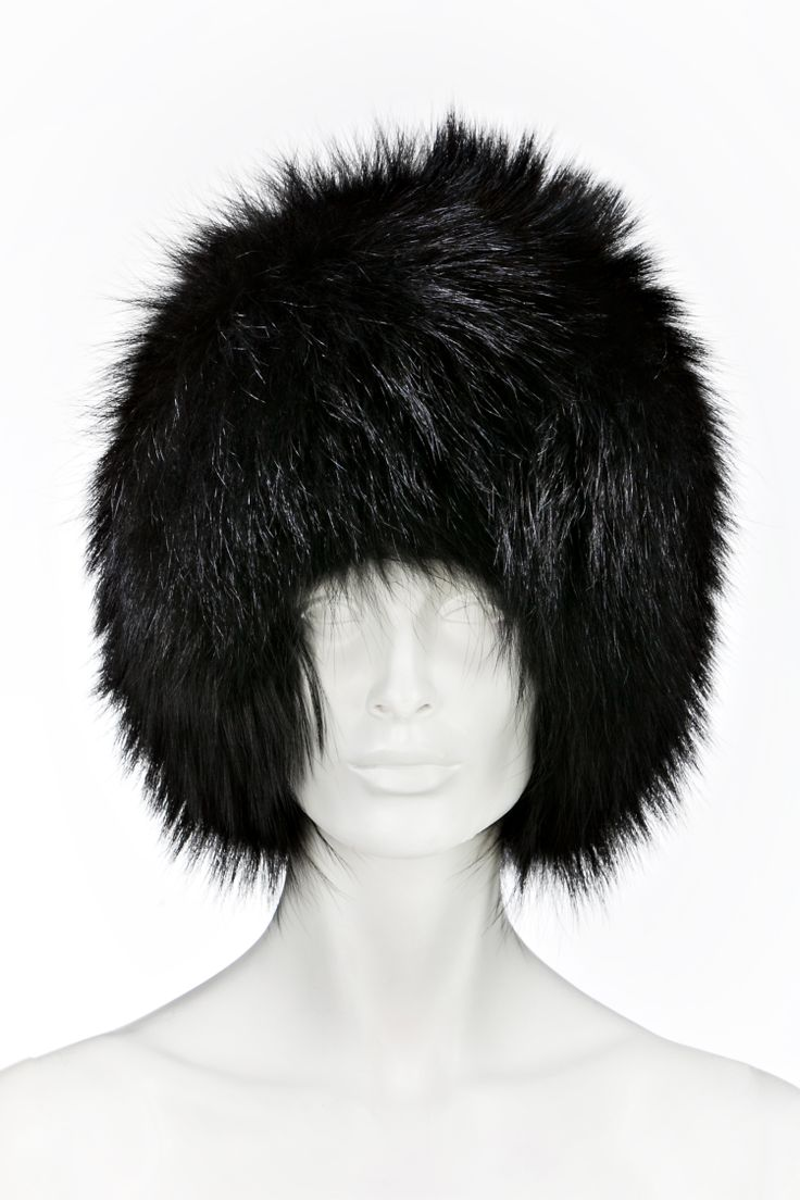 Black hat, available in raccoon or in fox