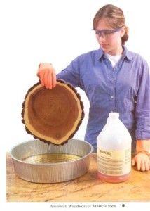 Wood Stabilizer Prevents Cracks « Preservation Solutions Preservation Solutions