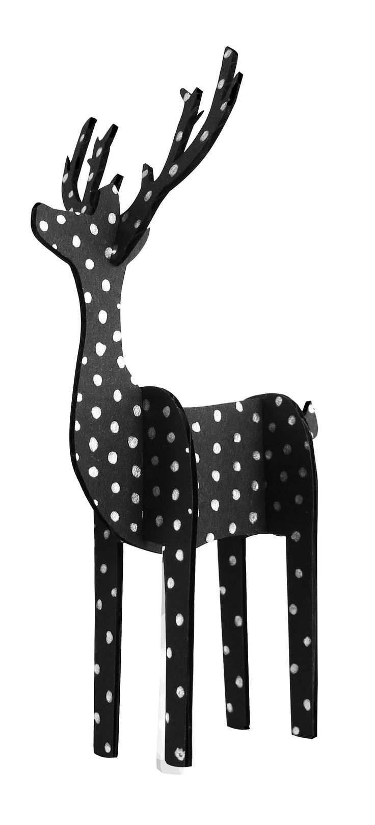 Cute Dotted Reindeer. Order your 3D reindeer on www.crafty-kit.com
