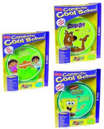 Computer Cool School Software Bundle: Dora & Diego, Scooby-Doo, Spongebob by Fisher-Price. $156.00. Scooby-Doo: Vocabulary / Writing Letters & Words / Numbers & Counting / & Much More. 3 Separate Titles Included in Set: Dora & Diego, Scooby-Doo, SpongeBob. Dora & Diego: Ages 3-5 Yrs / Scooby-Doo: Ages 4-6 Yrs / Spongebob: Ages 4-6 Yrs /. Spongebob: Reading Comprehension / Spelling / Money Skills / & Much More. Dora & Diego: Phonics / English-Spanish Words / Latin Mu...