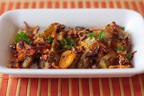 """Pečené zemiaky s bryndzou """"horeriťky"""" - Tinkine recepty"""