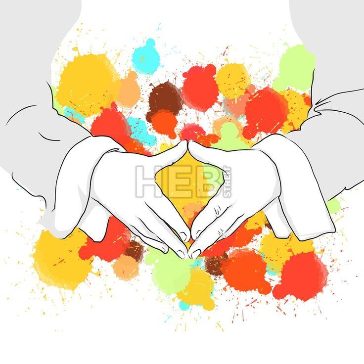 Angela Merkel Folding Hands Sign. Hand Drawn Vector Illustration, Splatter Color Isolated on White Background. Creative  Communication Concept.... ... #vector #people #sign #sketch #poster #colorful #marketing #illustration #art #hebstreit