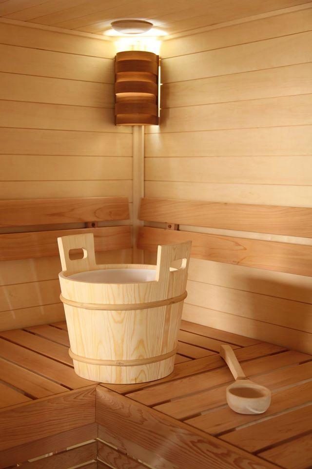 Aspen and Cedar sauna accessories goes good together.  #Sauna #SaunaAccessories #Saunatarvikkeet