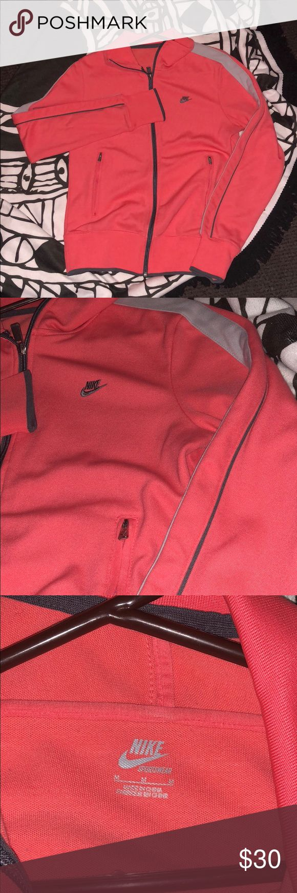 Nike Fleece Jacket Pink Nike Fleece Jacket  Size Medium   In good condition  Offers Welcome  I can put a picture with me with it (just ask) Nike Sweaters