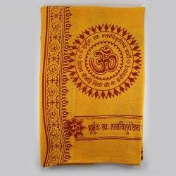 OM Gayatri mantra shawl