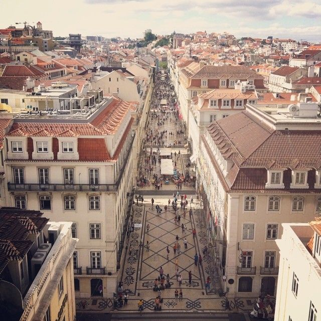 Lisbon, view from the top of Rua Augusta Arch www.casteloapartment.com