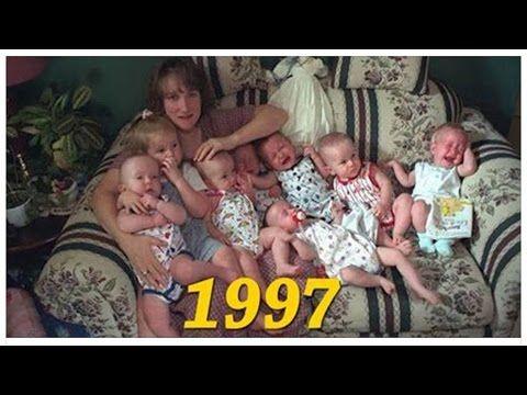 Ella tuvo septillizos en 1997 y su esposo la dejó. Mira cómo lucen 19 añ...