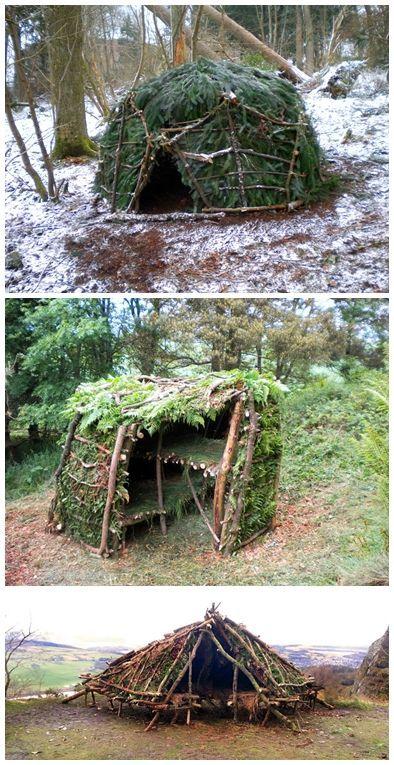 Building A Small Shelter Homesteading #survivalskills #outdoorsurvival