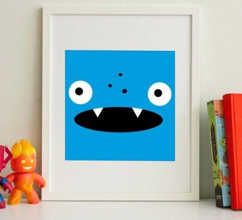 Monster face prints from Joseph Harrold Gallery.