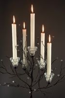 Set of Two Crystal Candle Tree Candle Holders 32″