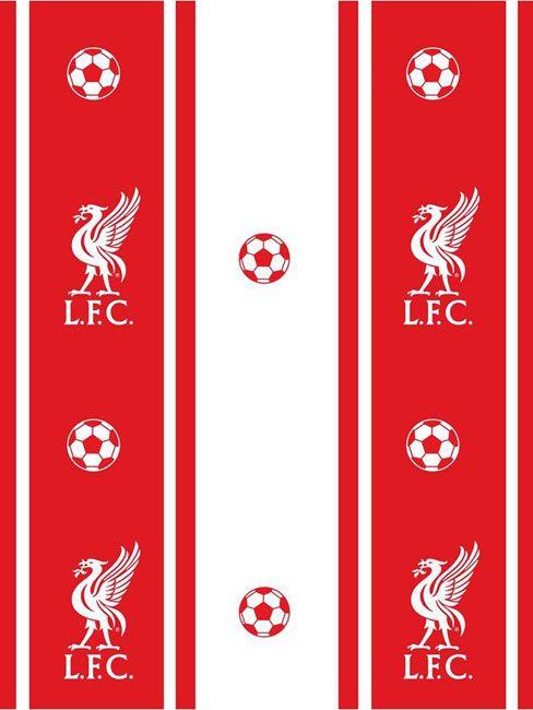 Liverpool FC Stripe Wallpaper 10m Brand new design   10 metres (32.8 feet) long High quality wallpaper - Ideal for creating a LFC themed room