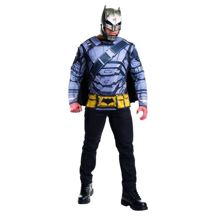 Halloween Dawn of Justice Batman Armored Adult Costume Top- X-Large, Men's, Size: XL, Multicolored