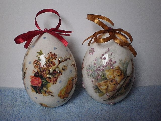 easter eggs - decoupage, handmade by Joanna