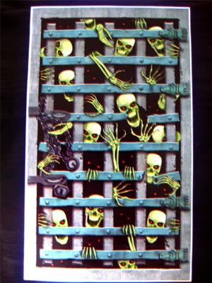 prison skeleton mural halloween scene setter decoration huge 6ft new