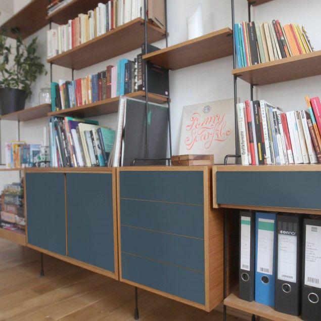 Self-adhesive Furniture Covering - Colour Slate Blue - Adhesive Film single-colour