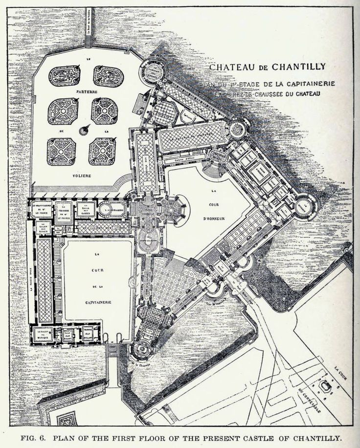 Floorplan Of The Ch 226 Teau De Chantilly Architectural