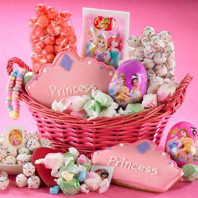 75 best easter baskets gifts and crafts images on pinterest princess easter basket from figis is loaded with everything your little princess could want except candy necklaceslittle princessedible giftsfood negle Images