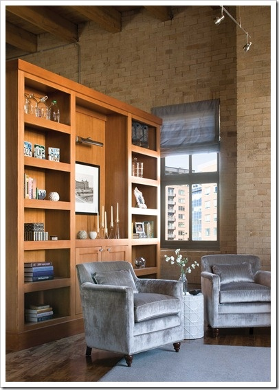 Bookshelf As A Room Divider In A Studio Apartment Loft Floorplan
