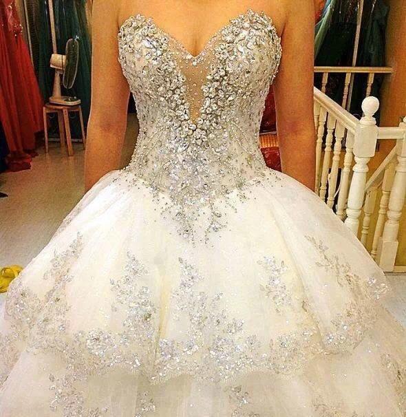 Heart Cut Wedding Dress