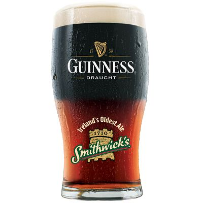 I've been drinking half-Guinness-half-Smithwick's for years, but I just found out it's actually called a Blacksmith. Note: Guinness floats!