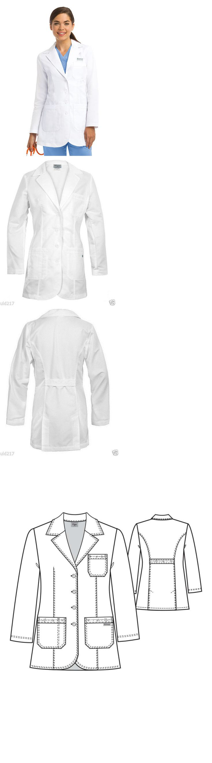 White lab apron - Lab Coats 105417 Grey S Anatomy Womens 32 Inch White Lab Coat 4425 Nwt