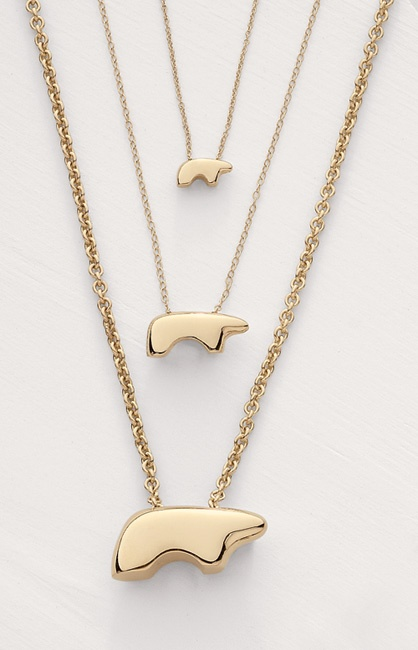 Golden Bear Mama Bear Necklace- The Symbol of Vail Valley