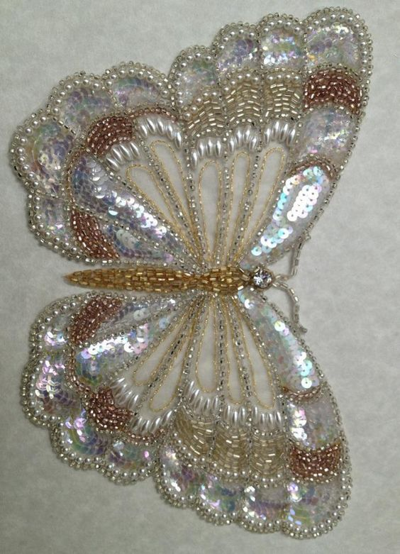 Tambour Butterfly • my teacher of bead embroidery also taught tambour and she said it is very difficult form of embroidery to master.