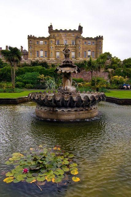Fountain at Culzean Castle in Ayrshire, Scottland