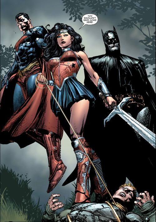 Wonder Woman, Batman, Superman. Well... not really. This ...