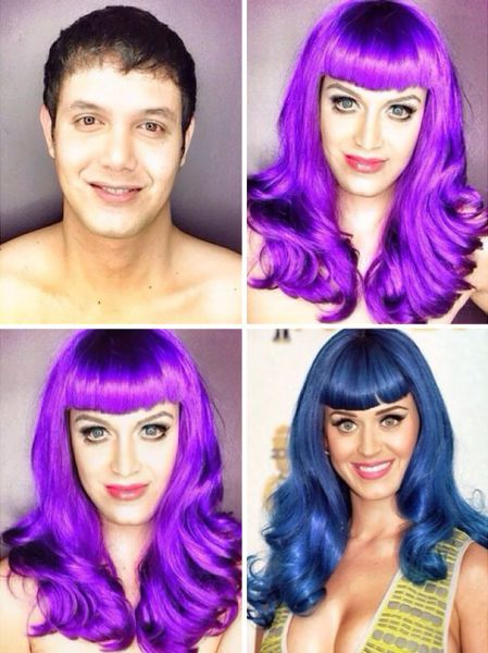 The Man Who Is Becoming a Pro at Celebrity Makeup Transformations - Filipino TV host Paolo Ballesteros has been Instagramming photos of himself made up as different famous female stars and his makeovers are pretty good. #KayPerry #makeup