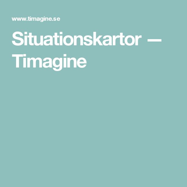 Situationskartor — Timagine
