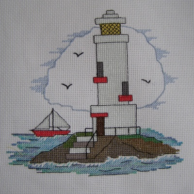 Cross Stitch - Lighthouse panel for Kids Company Project - stitched June 2011