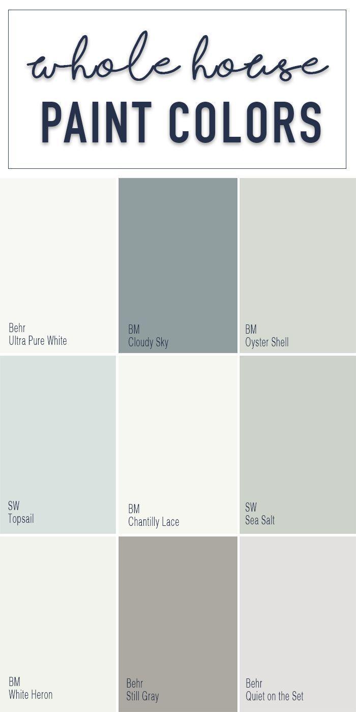 Paint Colors For A Whole Home Color Palette Calming Neutral