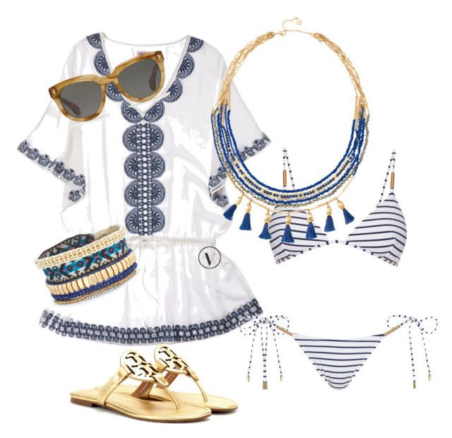 """Lake house style by Stella & Dot"" by kmathews62 on Polyvore featuring Stella & Dot, Melissa Odabash and Tory Burch"