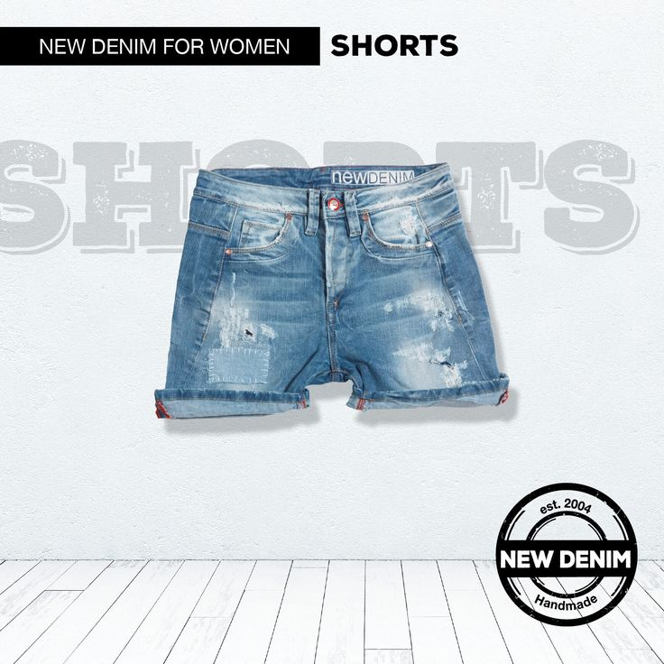 A rocking denim shorts doesn't have to talk.
