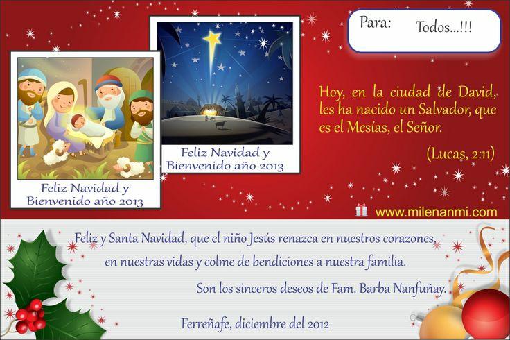 Feliz Navidad 2012 - Milenanmi Diseño: Héctor y Mavel