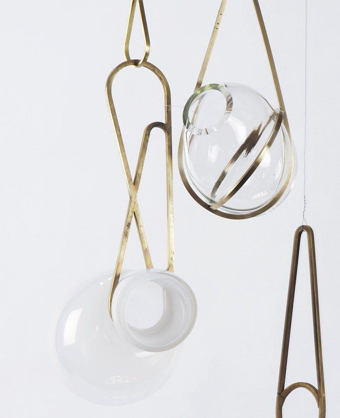 Lindsey Adelman Studio : Catch Pendant Light interior lighting design blown glass luminaires suspendus atypiques en verre