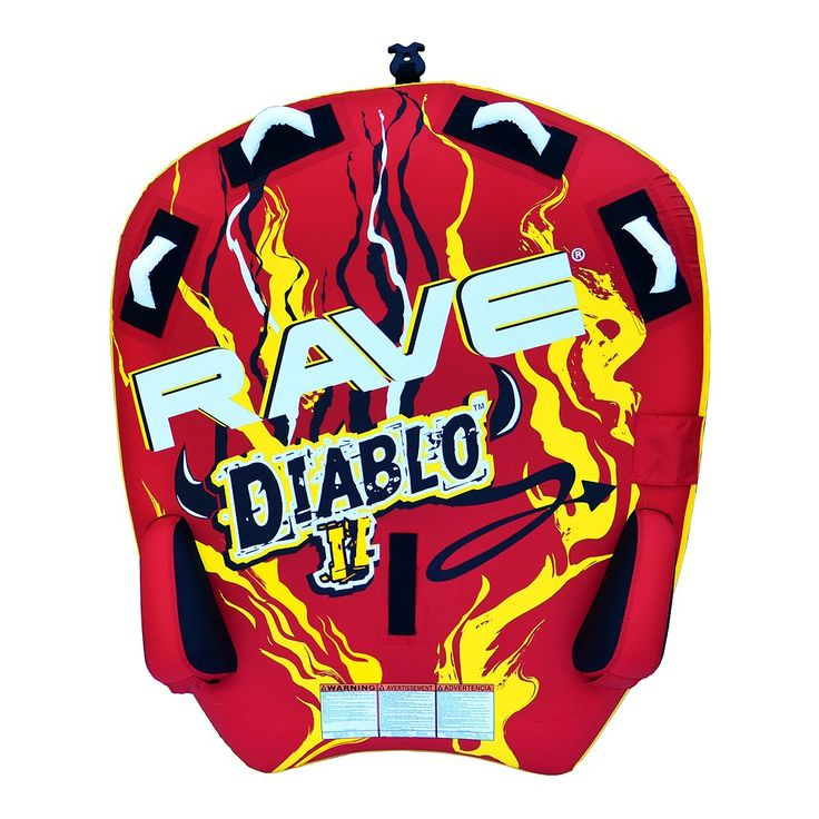 Rave Sports Diablo II Towable Inflatable Water Tube, Multicolor