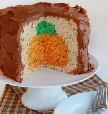 Pumpkin Rice Krispy Surprise Cake ~ Fun for Kids and adults alike!