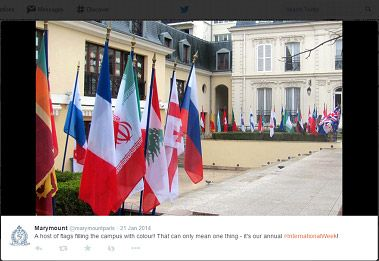 Country flags at Marymount school