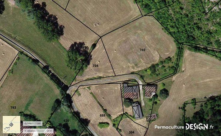 Vue aérienne sur Geoportail du site du projet TERA  Pour lire l'article complet : http://www.permaculturedesign.fr/creation-jardin-foret-comestible-permaculture-guilde-projet-communaute-eco-village  #PermacultureDesign #Permaculture #ForetComestible #Agroforesterie #Guildes #ProductionDeNourriture #ProjetTERA #PlantezVotreAbondance #EcoVillage #PermacultureHumaine #JardinForet #FaireEnsemble #LieuxPermacoles