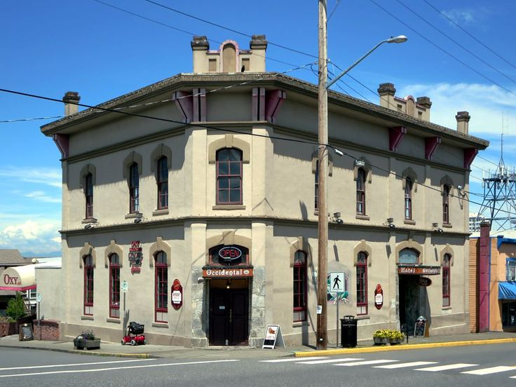 The Occidental Hotel (1886) is the oldest hotel in Nanaimo, British Columbia, Canada. Today it's a pub and rooms are not available.