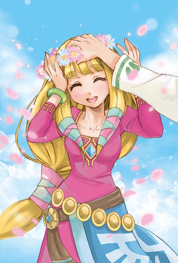 /Sky Zelda/#997289 - Zerochan   The Legend of Zelda: Skyward Sword, Link and Zelda / 「花冠あげるね」/「狐夢 」のイラスト [pixiv]