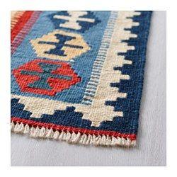 IKEA - PERSISK KELIM GASHGAI, Teppe, flatvevd, Hvert teppe har sitt eget, unike tradisjonelle persiske mønster.Håndvevd av dyktige håndverkere, og er derfor unikt.Langfibret ull gjør teppet ekstra slitesterkt, minimerer loing og gjør det naturlig blankt.Teppet har samme mønster på begge sider, så du kan snu det for å forlenge levetiden.Ideelt til stua eller under spisebordet, siden det flatvevde teppet gjør det enkelt å trekke ut stoler og støvsuge.