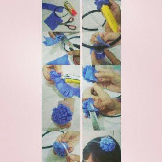 Flanel Flower Head Band