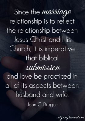 Marriage done God's way is a beautiful thing. Ephesians 5:21-33 tells us that God designed marriage to be a direct reflection of the union between Jesus and the church. As man and wife, we have God-given gender roles that are to be honored in marriage.