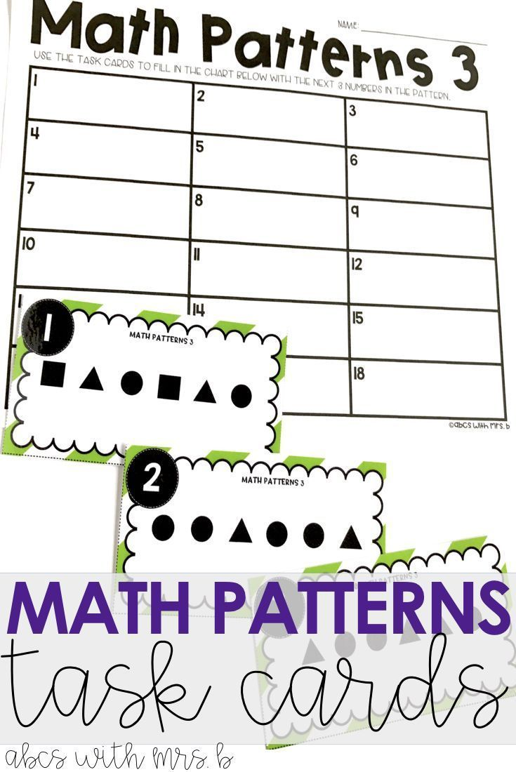 worksheet Math Patterns best 25 math patterns ideas on pinterest teaching task cards